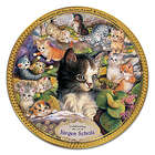 21st Anniversary Kitten Art Plate with Dickens Quote
