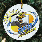 Personalized Ceramic Snowboarding Ornament