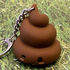 Kawaii Farting Poopy Face LED Keychain