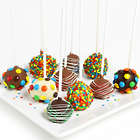 Birthday Cake Pops Dunked in Belgian Chocolate