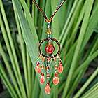 'Orange Dreamcatcher' Carnelian Necklace