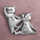 2 Cats at the Ballet Edward Gorey Barre Pin