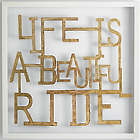 Life Is a Beautiful Ride Dimensional Wall Art
