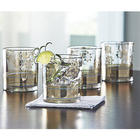 Metallic Lace Cocktail Glasses Set
