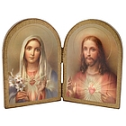 Immaculate Heart and Sacred Heart Diptych