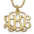 Small Monogram Necklace in 18 Karat Gold Plating