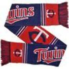 Minnesota Twins Red with Navy Blue and White Striped Scarf