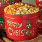 Merry Christmas 3 Flavor 2 Gallon Popcorn Tin