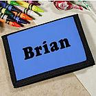 Kid's Custom Printed Name Velcro Wallet