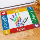 Autism Awareness Handprint Welcome 18x24 Doormat