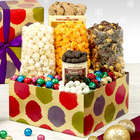 Holiday Dots Popcorn Gift Box