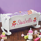 Personalized Doll Cradle and Blanket Set