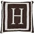 Personalized Monogram and Double Border Pillow