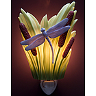 Dragonfly with Cattails Night Light