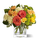Citrus Splash Bouquet with Glass Vase