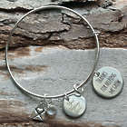 Thanks for Helping Me Grow Personalized Wire Bangle Bracelet