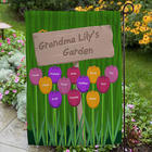 Grandma's Garden Personalized Yard Flag