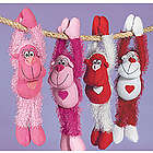 Plush Long Armed Valentine Gorillas Set