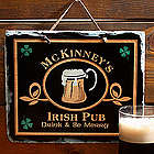 Personalized Irish Pub Sign Slate Plaque