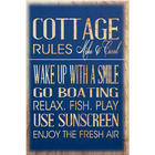 Personalized Cottage House Rules Canvas Art