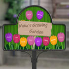 Grandma's Garden Personalized Yard Stake with Magnet