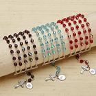 Personalized Birthstone Rosary Beads Bracelet