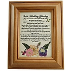 Irish Wedding Blessing Framed Print with Pressed Flowers