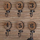 Numbered Wall Hook Set