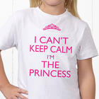 Keep Calm Personalized Youth T-Shirt