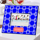 Personalized Grecian Blue Color Bright Picture Frame