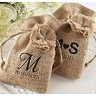 Personalized Burlap Favor Bags