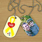 Military Personalized Photo Dog Tag