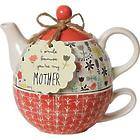Bloom Mother Teapot and Tea Cup Set