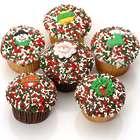 Christmas Belgian Chocolate Gourmet Cupcakes