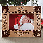 My First Christmas Personalized Baby Picture Frame