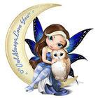 Fairy and Owl Moon Figurine