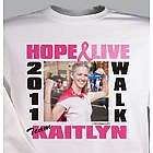 Breast Cancer Walk Photo Sweatshirt