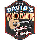 Handcrafted World Famous Guitar Lounge Sign