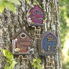 Solar Lighted Fairy Door for Trees or Fence-Posts