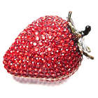 Crystal Strawberry Vanity Trinket Box