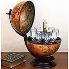Tabletop 16th-Century Italian Replica Globe Bar