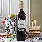 Personalized Birthday Wine Bottle