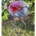 Glass Butterfly Birdbath and Stand