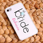 Personalized Bling Bride iPhone Case