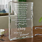 Personalized Will You Be My Bridesmaid Keepsake