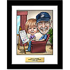 Grandpa Custom Caricature Art Print