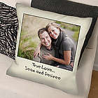 Custom Message Photo Throw Pillow