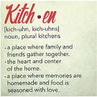 """Kitchen Definition 16"""" Canvas Sign"""