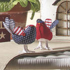 Patriotic Birds Sculpture Set