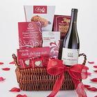 Valentine Romance Wine and Chocolates Gift Basket